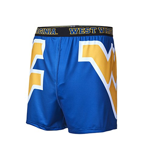 FANDEMICS NCAA West Virginia University Men's Boxer Short, Men's Medium (32-34)