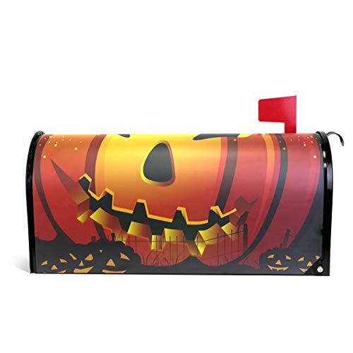 WOOR Scary Pumpkin The Halloween Magnetic Mailbox Cover Oversized-20.8