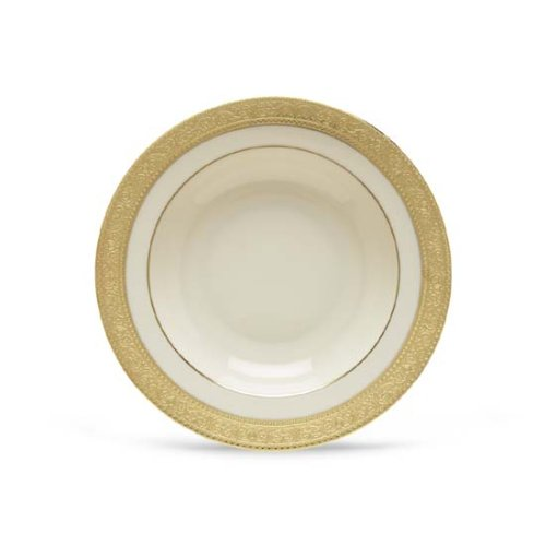 (Lenox Westchester Gold Banded Ivory China Pasta Bowl/Rim)