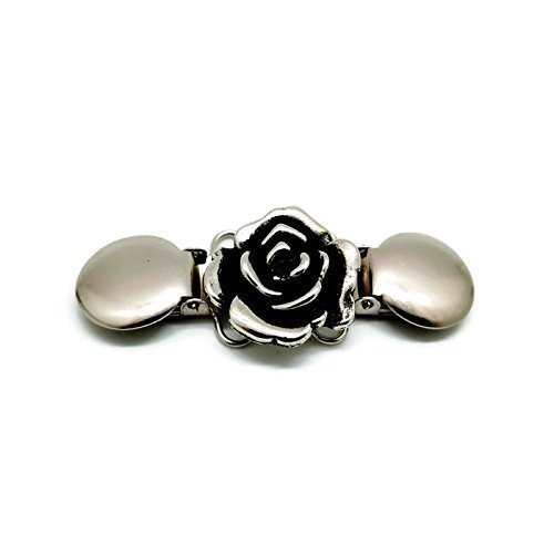 (Clothes Clip - Cinch Together Your Dress, Sweater, Cardigan or Other Clothing - Handmade Rose Design )