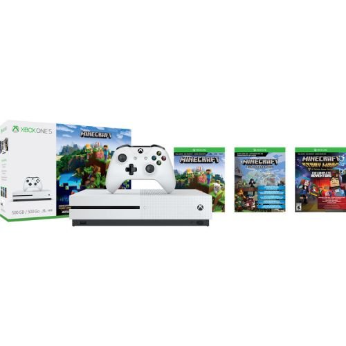 Xbox One S 500GB Console – Minecraft Complete Adventure Bundle [Discontinued]