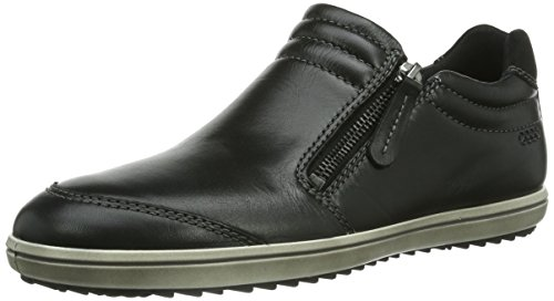 ECCO Womens Alona Zip Flat Black E7tY33O4sa