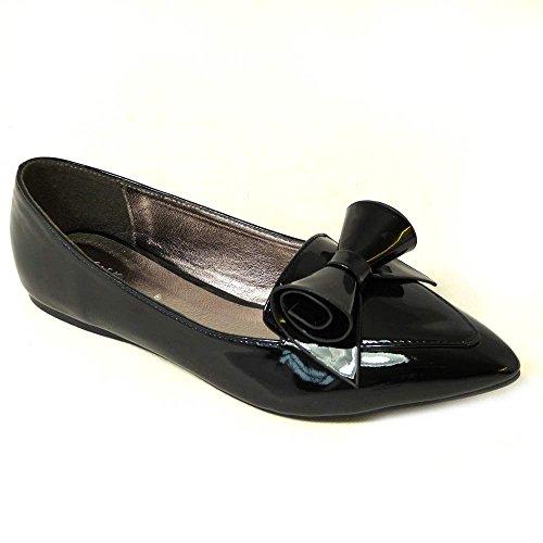 SKOS , Damen Ballerinas Black Patent (jyx-1)