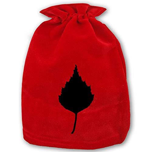 Folding Birch Leaf Sport Drawstring Bag Home Christmas Storage Use