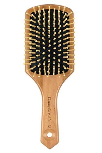Natural Wooden Massage Hair Brush, Cushion, Wood Bristle. Large Square Paddle Brush (Brushes Pneumatic Wooden Hair)