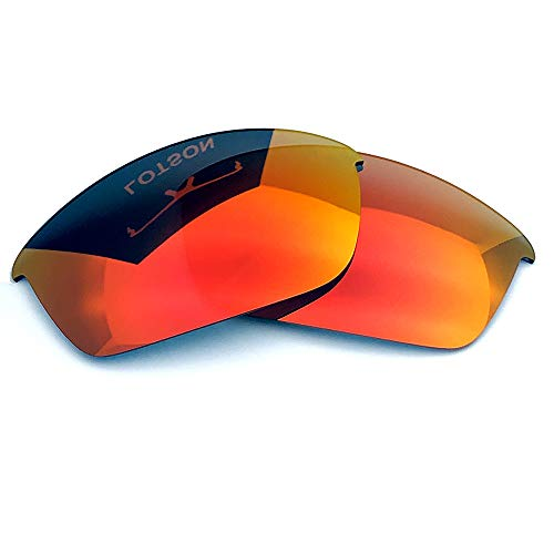 LOTSON Replacement for Fire Red Polarized Lenses Oakley Flak Jacket Sunglasses