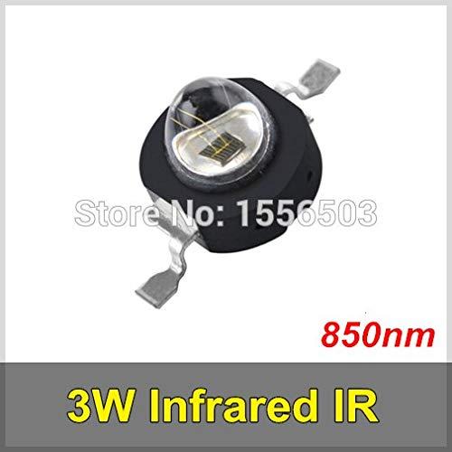 Jammas 50 Pcs/lot 3W Infrared IR 850nm High Power LED Bead Emitter DC1.8-2.2V CCTV Camera IR Diode for Security Black LEDs