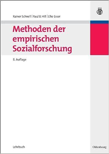schnell hill esser methoden der empirischen sozialforschung