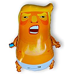 Big Baby Trump Foil Balloon 24 Inch Funny Toy Inflatable Blimp for March Parade Party Midterm Elections Party Perfect Balloons Trump Pinata