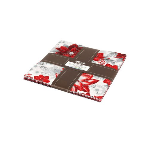 Peggy Toole Holiday Flourish Silver Metallic Ten Squares 10-inch Precut Cotton Fabric Quilting Assortment Layer Cake Robert Kaufman TEN-607-42 (Quilt Holidays Fabric Cotton)