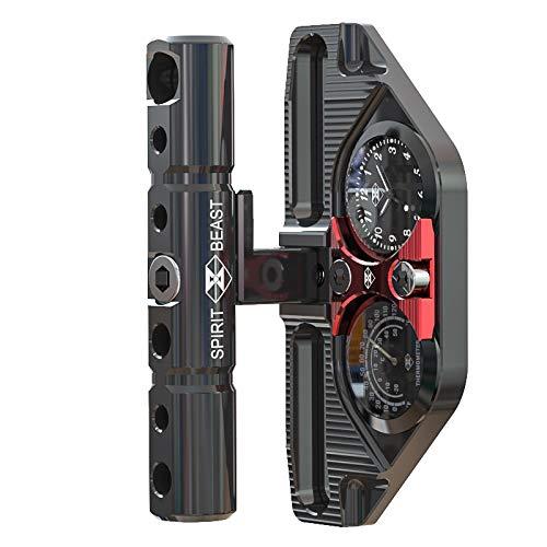 BEESCLOVER Motorcycle Multi-Function Bracket/Clock/Thermometer for Handlebar/Phone Holder for Hon-da Yama-ha