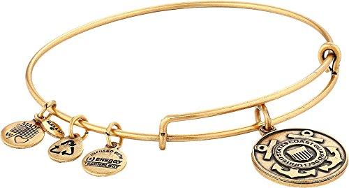 - Alex and Ani Armed Forces US Coast Guard Expandable Rafaelian Gold Bangle Bracelet