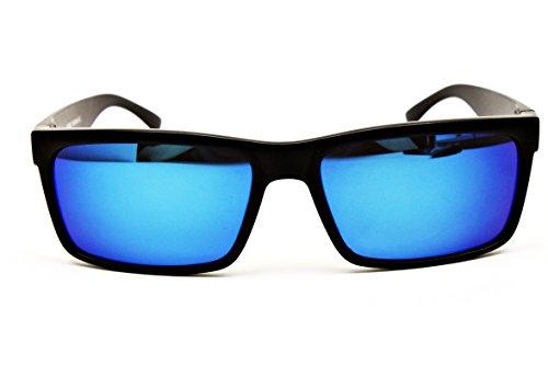 W634-vp Style Vault Sport/fashion Sunglasses (ALLE Mt Black-Blue, mirrored)