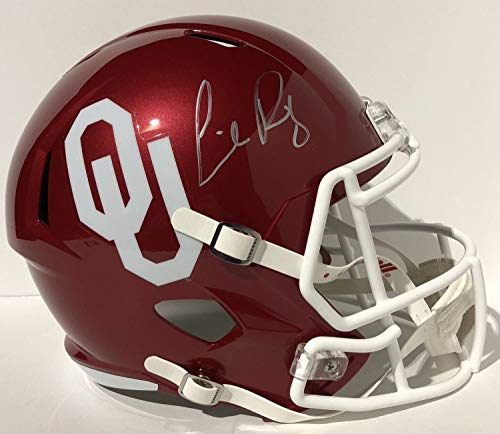 Lincoln Riley Autographed Signed Oklahoma Sooners F/S Replica Helmet Bring The Wood Psa/Dna