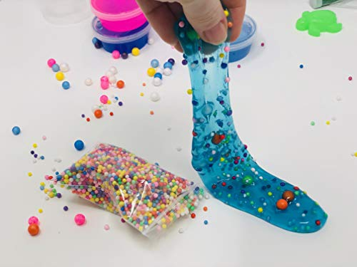 WonderCo Slime Kit with Everything! The Ultimate Slime Kit with Pre-Made Slime for Kids. Dragon Eggs, 18 Colors, Cloud Slime, Unicorn Supplies and Glitter DIY Accessories for Boys and Girls by WonderCo (Image #5)