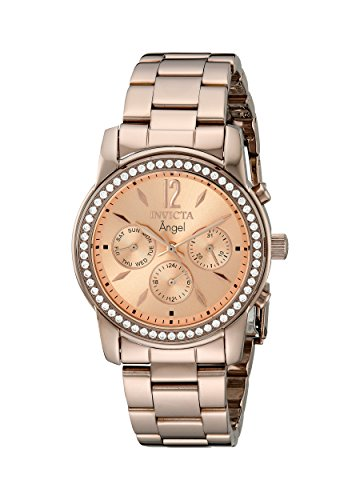 Womens Brown Ion Plated - Invicta Women's 11773 Angel Rose Tone Dial Brown Ion-Plated Stainless Steel Watch