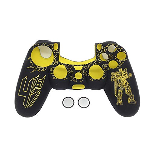 Price comparison product image Finedayqi Silicone Rubber Case Skin Grip Cover for Playstation 4 PS4 Controller (Yellow)
