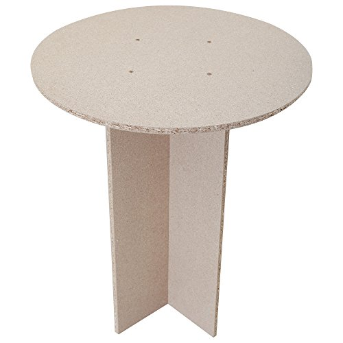 Decor Occasional Round Table (One Size) (Brown) (Rounds Chipboard)