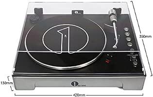1 BY ONE Tocadiscos automático de 3 velocidades con Placa de Aluminio extraíble contrapeso Directo de Vinilo a mp3 Ordenador USB Que graba los vinilos