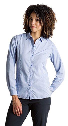 ExOfficio Women's BugsAway Brisa Relaxed Fit Long-Sleeve Shirt, Lobelia, Small