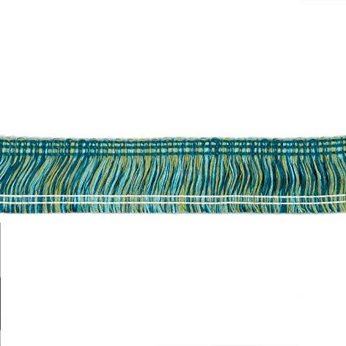 Brush Fabric Fringe - Sunbrella 2'' Brush Fringe #08293-2 Fabric, Rain Forest, Fabric By The Yard