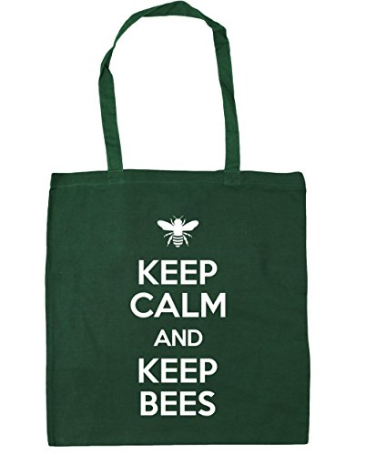 Beekeeping Beach and 10 Bag HippoWarehouse Keep Green 42cm Tote litres Shopping Bees Bottle x38cm Gym Keep Calm AwBqEzX1
