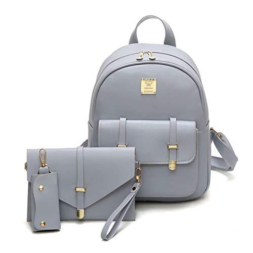 Mode sac à dos en cuir PU sac à dos 3pcs / Set femmes mignon sacs à dos d'école de voyage sac pour les adolescentes