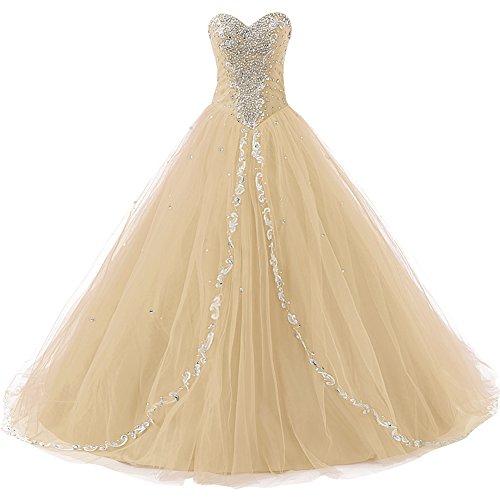 Jaeden Chérie De Mariage Robes De Soirée Longues Robes De Bal Formelle De Champagne Robe De Bal
