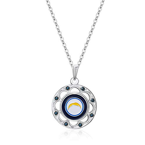 NFL San Diego Chargers Circle Pendant Logo Necklace