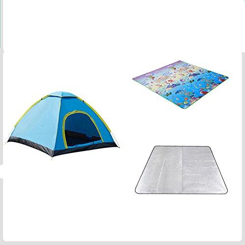 作業オーディション悪用TY&WJ キャンプテント ドームテント 高速 アウトドア テント 家族 ハイキング 旅行 防雨 肥厚 3-4 人