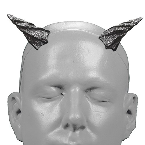 Demon Faun Costume (Gypsy Star V2 Silver Glitter Devil Horns w/ self locking invisible headband)