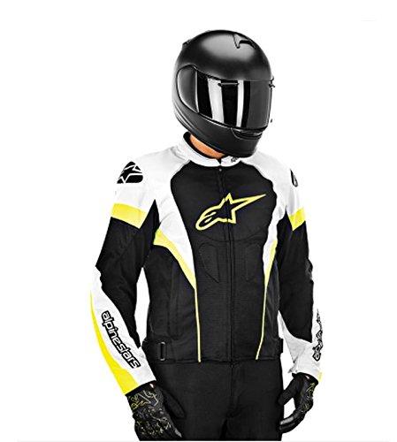 Alpinestars T-GP Plus R Air Men's Street Motorcycle Jackets - Black/White/Yellow / Medium