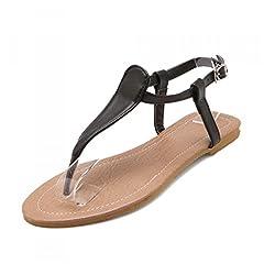 9838950c118d5 Women T Strap Rhinestone Party Wear Gladiator Roman Flat Sandals ...