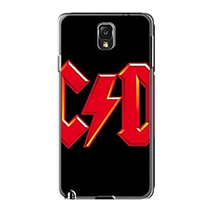 High Quality Hard Phone Cover For Samsung Galaxy Note3 (gQA15670ivyG) Customized Stylish Ac Dc Band Pattern