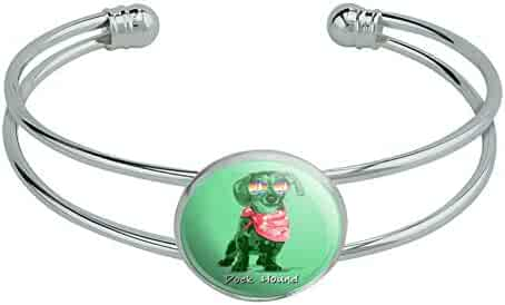 Lex /& Lu Sterling Silver Rhod Plated Polished Cuff Childs Bangle LAL103158