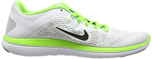 Nike Flex 2016 Rn, Zapatillas de Running para Hombre, Verde Blanco (White / Black-Anthrct-Elctrc Grn)
