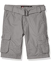 Boys' Big Belted Mini Canvas Cargo Shorts in