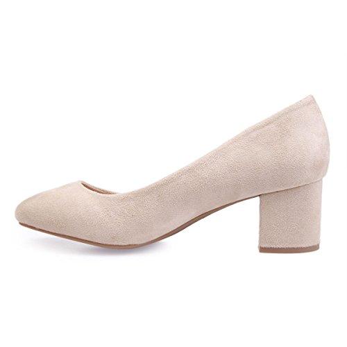 Sintético De 45197 Modeuse Beige Mujer La Material Zapatos Vestir YHfFSq4