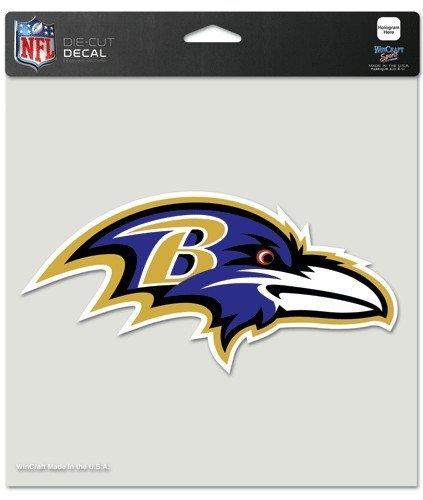 - WinCraft NFL Baltimore Ravens 80761010 Perfect Cut Color Decal, 8