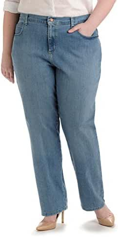 LEE Women's Plus-Size Relaxed Fit Straight Leg Jean