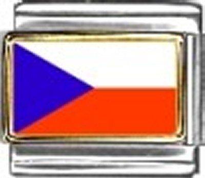 Czech Republic Photo Flag Italian Charm Bracelet Jewelry - New Photo Italian Charm 9mm