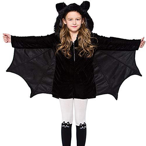 Inverlee Children Adult Halloween Bat Ears Costume Cosplay Costume Ball Party Jumpsuits]()