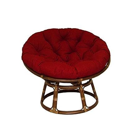 Amazon Com Rattan Papasan Chair With Fabric Cushion Home Kitchen