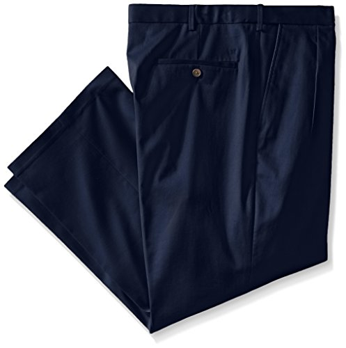 Haggar Men's Big-Tall Premium No Iron Classic Fit Pleat Front Pant, Dark Navy, 54x30 by Haggar