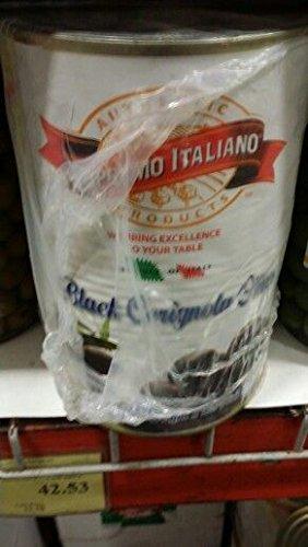 Supremo Italiano Black Cerignola Olives 4.2 Lb. (2 Pack)