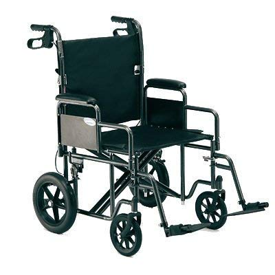 - Probasic - Heavy Duty 22 inch Transport Wheelchair, 450 lb capacity