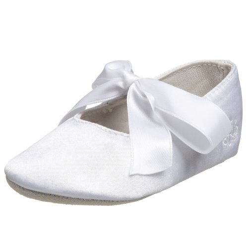 Youth White Satin (Ralph Lauren Layette Briley Ballet Crib Shoe (Infant/Toddler),White Satin,4 M US Toddler)