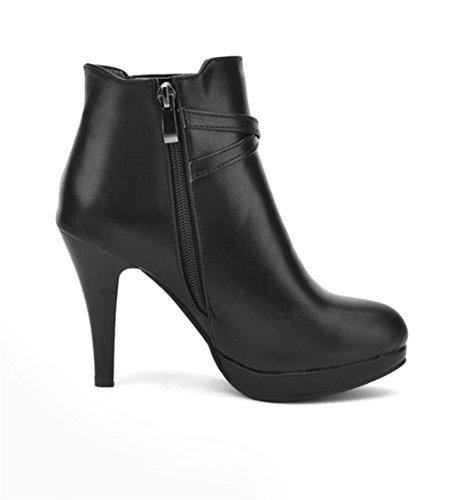 Las Mujeres Elegantes de Zapatos Tacones Tacón HETAO de Alto Manera Personalidad de Black de Zapatos la de Temperamento wB8Hx0nq