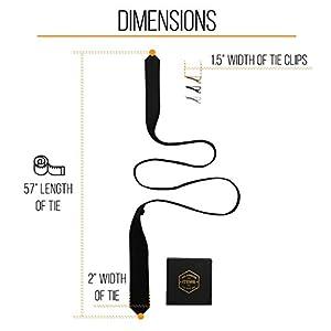 """Black Skinny Tie 2"""" - Thin Necktie Clip Set 1.5"""" - 3"""