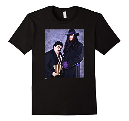Mens WWE Vintage Undertaker & Paul Bearer Photo Medium Black by WWE